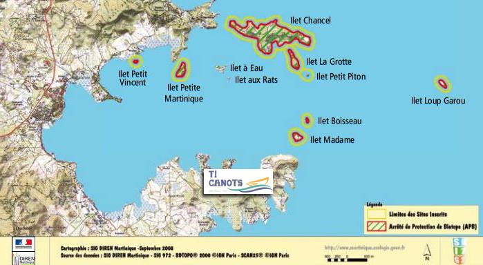 Carte de la Baie du Robert et de ses 10 ilets