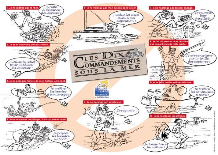 Bonne pratiques pour préserver les fonds marins de Martinique