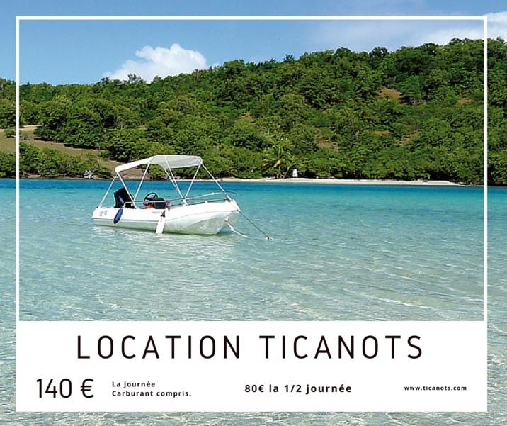 Tarif location de bateau Martinique chez Ticanots pour partir à la découverte de la Baie du Robert